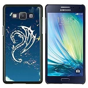 TECHCASE---Cubierta de la caja de protección para la piel dura ** Samsung Galaxy A5 ( A5000 ) 2014 Version ** --Diseño tribal del dragón del cielo