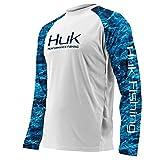 Huk Subphantis Double Header Camisa de Manga Larga con ventilación, White/SubPhantis Glacier, Large