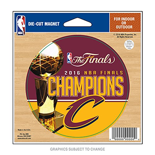 WinCraft Cleveland Cavaliers Champions Official NBA Finals Car Refrigerator Magnet 4.5x6 Champs 692702