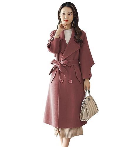 YAANCUN Mujer Abrigos Invierno Manga Larga Elegantes Vintage Lana Parka Abrigo Outerwear Diseño De L...