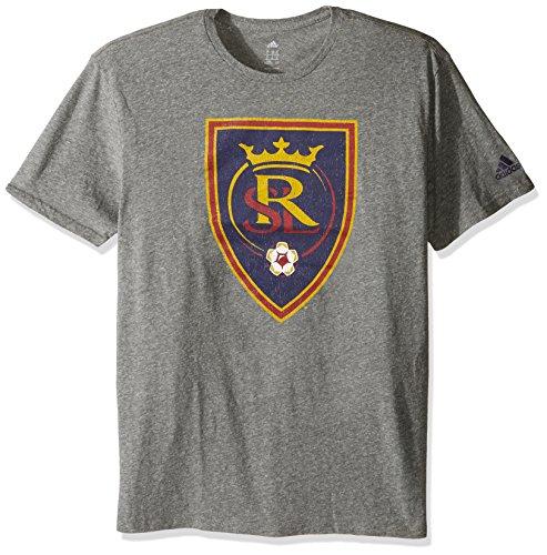 (MLS Real Salt Lake Adult Men Vintage Too Tri-Blend S/Tee,X-Large,Gray)