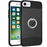 iPhone 7 Case, iPhone 6s/6 Case, Amuoc Heavy Duty Shockproof Anti-Scratch Case with 360 Degree Rotating Ring Grip kickstand for iPhone 7/6s/6