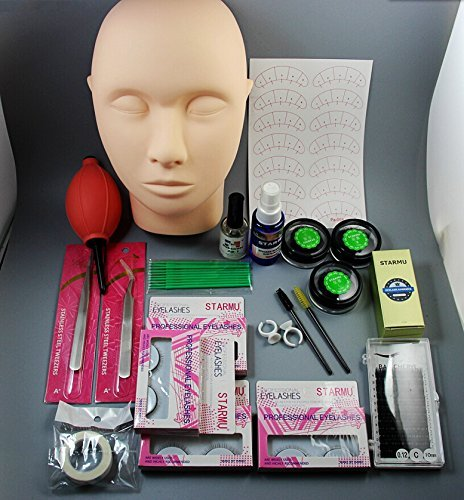 CHENGYIDA 1 Set False Eyelash Individual Fake Eye Lashes Extension Makeup Tools Glue Tweezer Brushes Set Kit Ltd CYD30