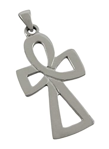 Things2die4 Silver Finish Egyptian Ankh Symbol Pendant Charm Amazon