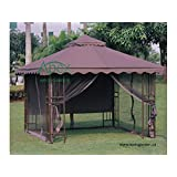 Replacement canopy for #YH-6011 10x10 Gazebo Replacement Canopy Top - STRAIGHT EDGE