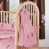 Pink Buckmark Crib Diaper Stacker by Browning