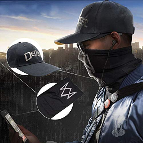 Halloween Costumes Party - Unisex Black Face Mask Game Watch Dogs 2 Wd2 Marcus Holloway Cosplay Dedsec Hat Cap Party Halloween - Inflatable Games Party Mask -
