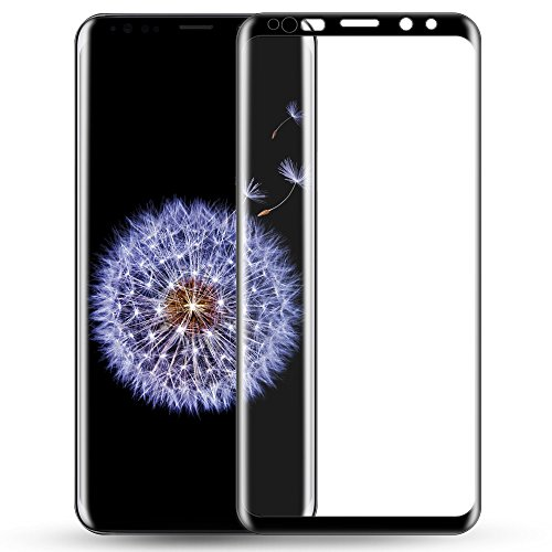 Galaxy S9 Plus Screen Protector, Capshi S9 Plus Tempered Glass 3D Curved Full Coverage HD Ultra Clear 9H Hardness(Anti-Scratch, Anti-Bubble) Screen Protector for Samsung Galaxy S9 Plus(6.2