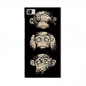 كوفر ات اب Three monkeys Hard Case for Xiaomi Mi 3 - Multi Color