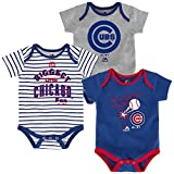 Chicago Cubs Outerstuff Baby MLB 3 Piece Bodysuit Set