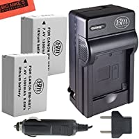 BM Premium 2-Pack Of NB-7L Batteries & Battery Charger Kit for Canon PowerShot G10, G11, G12, SX30 IS Digital Camera Includes Battery + AC/DC Battery Charger