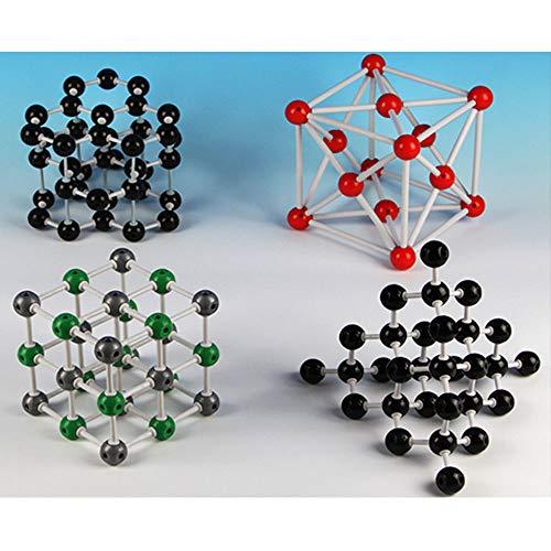 EASTCHEM Molecular Model Kit for Organic and Inorganic Chemistry(Graphite, Diamond, Sodium Chloride (Salt), Copper) - Chemistry Crystal Structure Student and Teacher Set ()
