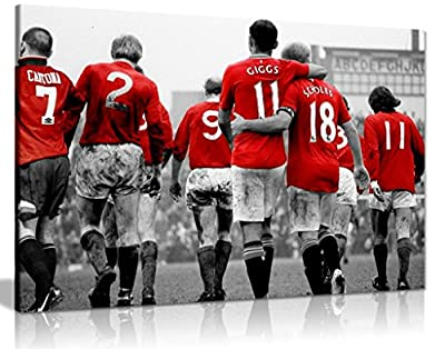 Manchester United Legends Football Canvas Wall Art Picture Print