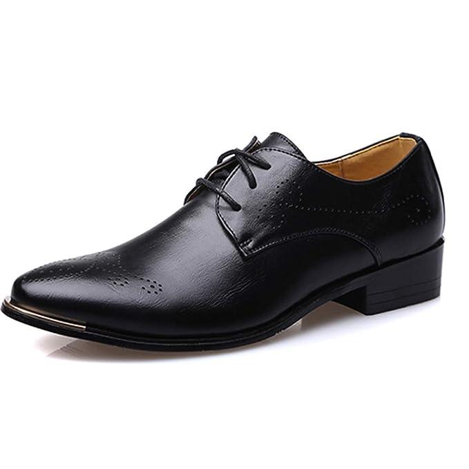 Hombre Mocasines Zapatos De Cuero De Los Hombres Zapatos Falsos Zapatos De Zapatos Tallados Retro Mocasines
