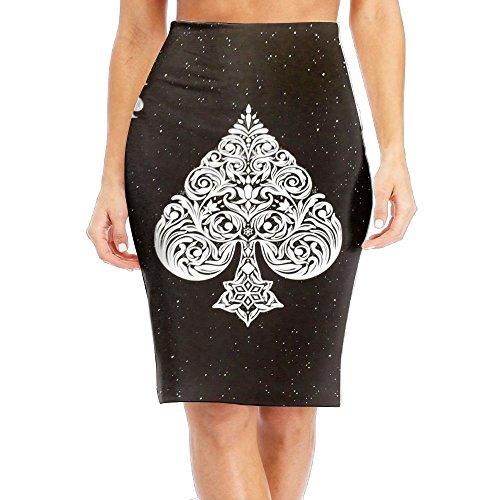 - Ace Of Spades Poker Card Fashion Tie Dye Stretchy Tall Length Bodycon Plus Size School Beach Women Girls Pencil Skirt Maxiskit