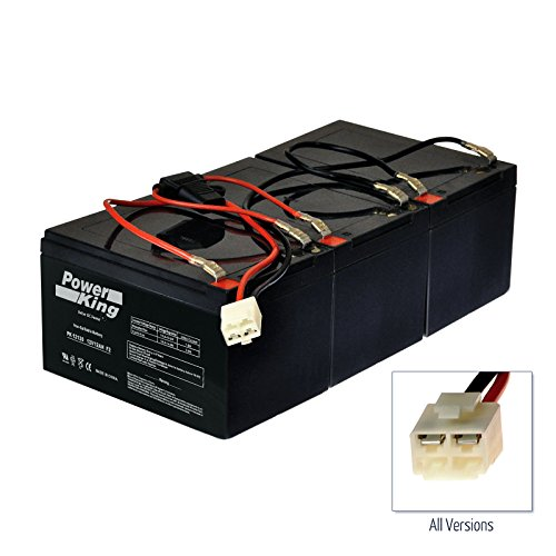 Razor 36 Volt 12 AH MX500 & MX650 Battery Pack Includes Battery Wire Harness W15128190003 (3) 12V 12ah Beiter DC Power W15128190003 Easy Slide On Terminals No Soldering Diagram Included