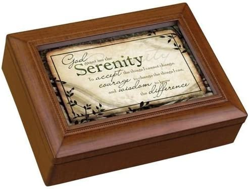 8 x 6 Carson Music Box-New Dimensions-Serenity Prayer//Amazing Grace