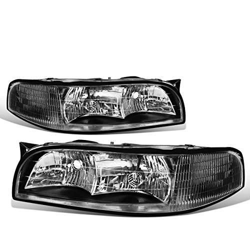 - For Buick LeSabre Pair of Headlight (Black Housing Clear Corner) 7th gen