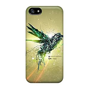 For Iphone Case, High Quality Green Bird Flight For Iphone 5/5s Cover Cases