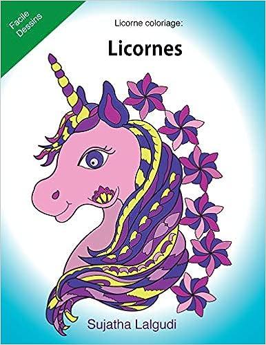 Coloriage De Licorne Deja Colorier.Licorne Coloriage Licornes Le Petit Livre De Coloriage Licorne