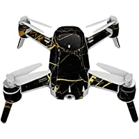 Skin For Yuneec Breeze 4K Drone – Black Gold Marble | MightySkins Protective, Durable, and Unique Vinyl Decal wrap cover | Easy To Apply, Remove, and Change Styles | Made in the USA