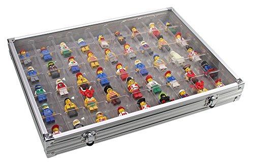 SAFE Lego Figurine Display Case - Aluminum for 45 Figurines