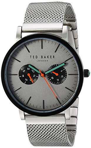 Ted Baker Men's Smart Casual Japanese-Quartz Watch with Stainless-Steel Strap, Silver, 20 (Model: 10031187)