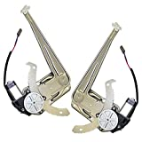 Driver and Passenger Front Power Window Lift Regulators & Motor Assemblies Replacement for Ford Mazda Pickup Truck 1FAA59526 8L5Z7823394A
