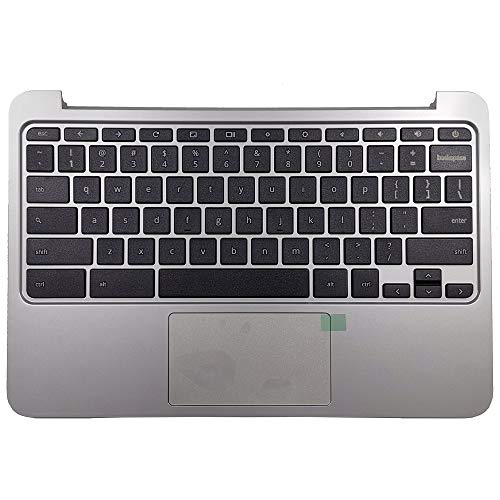 CAPARTS New Replacement Keyboard for HP Chromebook 11 G3 G4 Palmrest Keyboard Assembly with Touchpad P/N 788639-001 Silver