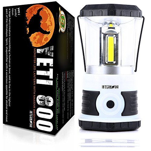 Internova Yeti 800 Monster LED Camping Lantern - Massive Brightness with Tri-Strip Lighting LED Lantern - Emergency - Backpacking - Hiking - Auto - Home - College (Himalayan White) - Inverted Led Bulb