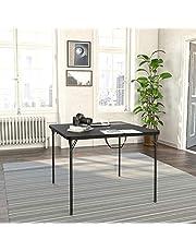 طاولة قابلة للطي لنصفين مع مقبض يد وسهلة الحمل للاستخدام الداخلي والخارجي ومناسبة للكرسي المتحرك والتخييم والحفلات والحرف اليدوية من كوسكو اكس ال - 38.5 بوصة