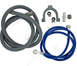 bartyspares Fill Water Pipe And Drain Hose Extension Kit For Beko Whirlpool Aeg Washing Machines And Dishwashers 2.5M