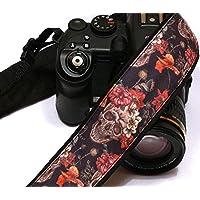 Sugar Skulls Camera Strap, Dia de los Muertos, Day of the Dead, DSLR Camera Strap, SLR, Nikon, Canon Camera Strap, Accessories; 084