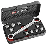 Facom 464.J1PG Socket Spanner Set 11 Pieces in Storage Box by