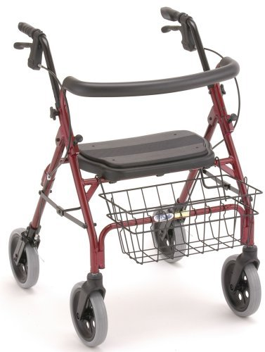 Walker 4 Wheel Cruiser Deluxe Red - Nova RD4202