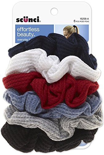 Scunci Effortless Beauty Thermal Twisters, Assorted Colors (Colored Blue Waffle)