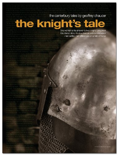 The Canterbury Tales: The Knight's Tale English Literature Poster. Eco-friendly, Laminated Educational Art Print (Knights Tale Poster)