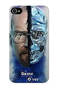 Christmas Gift - Tpu Case Cover For Iphone 4/4s Strong Protect Case - Breaking Bad Skull Dark Design