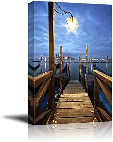 Beautiful Scenery Gondolas in Lagoon of Venice on Sunrise Italy Home Deoration Wall Decor