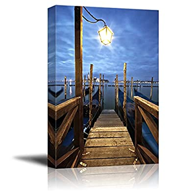 Beautiful Scenery Gondolas in Lagoon of Venice on Sunrise Italy Home Deoration Wall Decor, With a Professional Touch, Charming Design