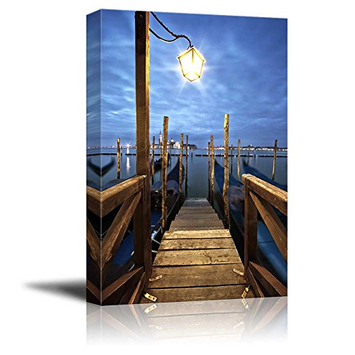 Beautiful Scenery Gondolas in Lagoon of Venice on Sunrise Italy Home Deoration Wall Decor ing