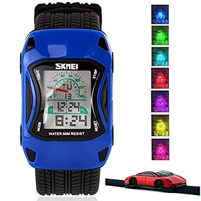 Kid Watch LED Sport 30M Waterproof Multi Function Digital Wristwatch for Boy Girl Children Gift from Etway