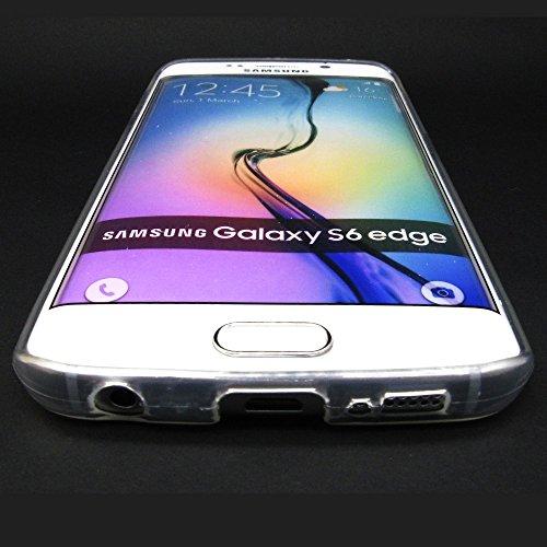 [Ashley Cases] TPU Clear Skin Cover Case for Samsung Galaxy S6 Edge - Batman Superman Cute at Gotham City Store