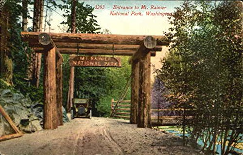 Entrance To Mt. Rainier, National Park Mount Rainier National Park Original Vintage Postcard