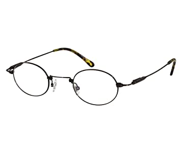 eb44caf291d Image Unavailable. Image not available for. Color  EyeBuyExpress Reading Glasses  Titanium Frames Brown Unisex Oval Full Coverage