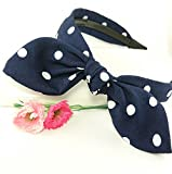 Evertrade Polka Dot Fabric Covered Bow Knot Fashion Headband for Girls offers