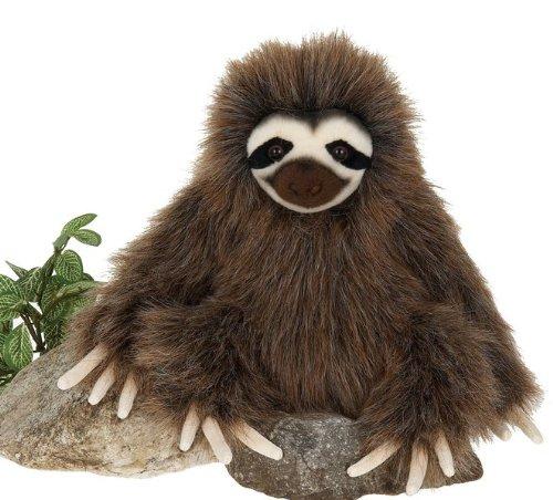 7  Three Toed Sloth Sitting Plush Stuffed Animal Toy By Fiesta Toys