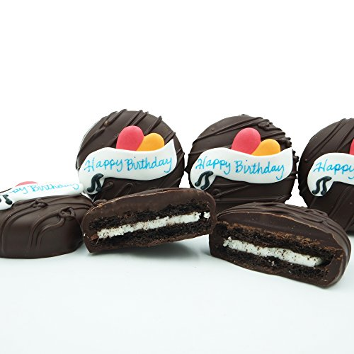 Philadelphia Candies Dark Chocolate Covered OREO Cookies, Happy Birthday Gift 8 Ounce (Chocolate Birthday Gifts)
