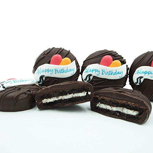 Dark Chocolate Covered OREO Cookies, Happy Birthday Gift 8 Ounce (Happy Birthday Dark Chocolate)