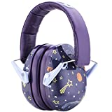 Snug Kids Earmuffs/Hearing Protectors – Adjustable Headband Ear Defenders for Children and Adults (Space)